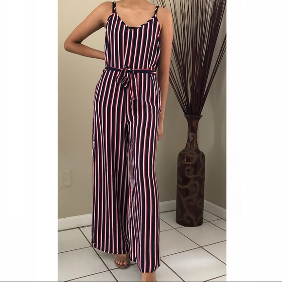 Forever 21 Pants Jumpsuits Womens Sleeveless Striped Light Casual Jumpsuit Poshmark